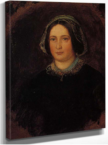Portrait Of Mrs William Evamy The Artists Aunt By John Everett Millais