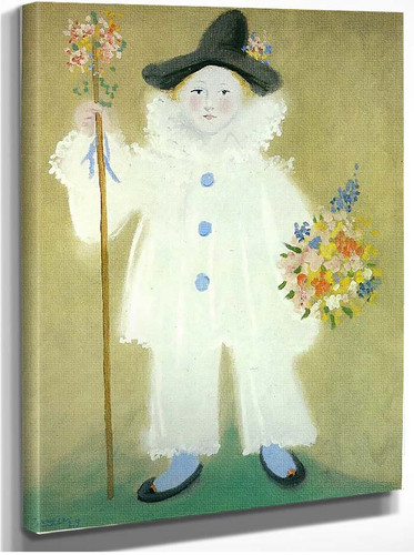 Portrait Of Paulo As Pierrot 1929 By Pablo Picasso