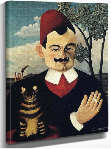 Portrait Of Pierre Loti By Henri Rousseau
