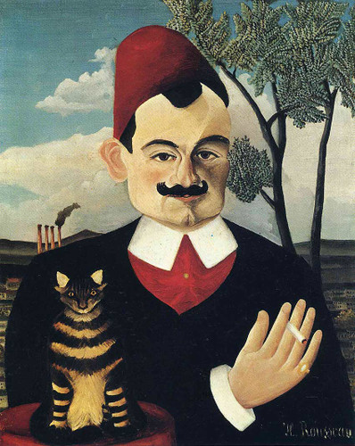 Portrait Of Pierre Loti By Henri Rousseau Art Reproduction from Wanford