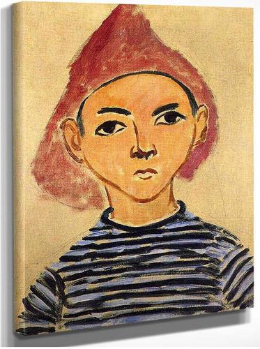 Portrait Of Pierre Matisse 1909 By Henri Matisse