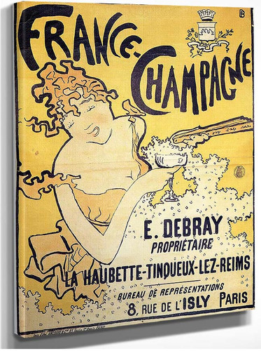 Poster Advertising France Champagne 1891 By Pierre Bonnard