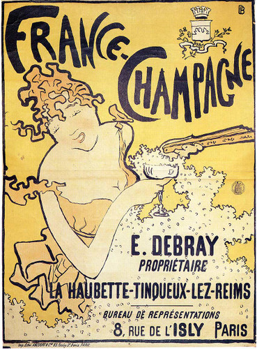 Poster Advertising France Champagne 1891 By Pierre Bonnard Art Reproduction from Wanford