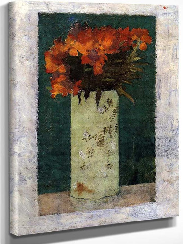 Pot Of Flowers By Pierre Bonnard