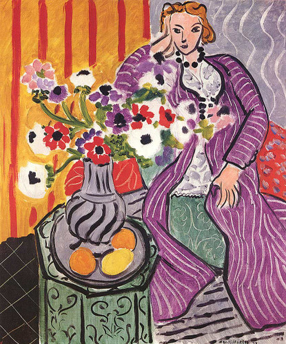 Purple Robe And Anemones 1937 By Henri Matisse Art Reproduction from Wanford