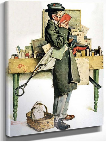 Reading Book By Norman Rockwell