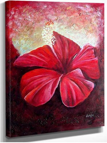 Red Flower Closeup By Georgia O Keeffe
