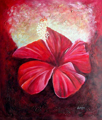 Red Flower Closeup By Georgia O Keeffe Art Reproduction from Wanford