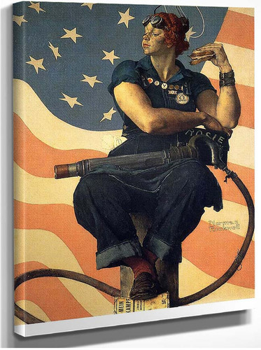 Rosie The Riveter 1943 By Norman Rockwell