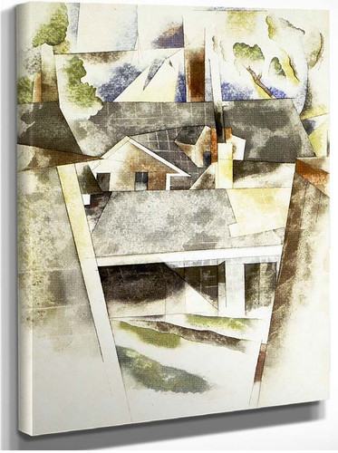 Sailboats And Roofs By Charles Demuth