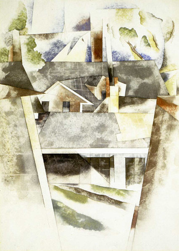 Sailboats And Roofs By Charles Demuth Art Reproduction from Wanford