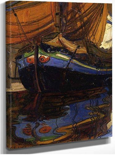 Sailing Boat With Reflection In The Water 1908 By Egon Schiele