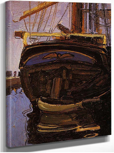 Sailing Ship With Dinghy 1908 By Egon Schiele