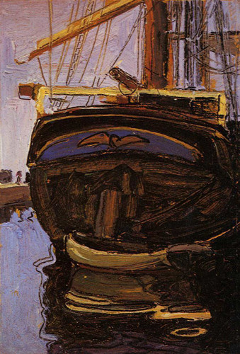 Sailing Ship With Dinghy 1908 By Egon Schiele Art Reproduction from Wanford