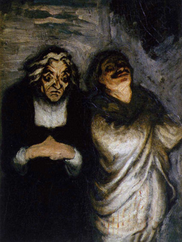 Scene From A Comedy By Daumier Honore Art Reproduction from Wanford