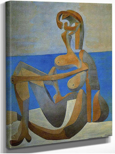 Seated Bather On The Beach 1929 By Pablo Picasso