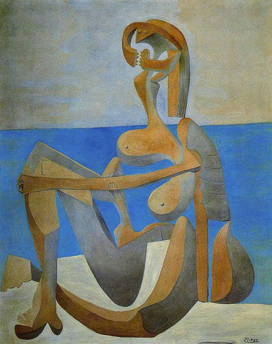 Seated Bather On The Beach 1929 By Pablo Picasso Art Reproduction from Wanford