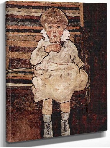 Seated Child 1918 By Egon Schiele