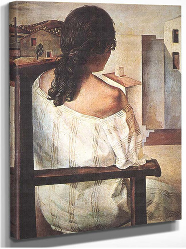 Seated Girl Seen From The Back By Salvador Dali