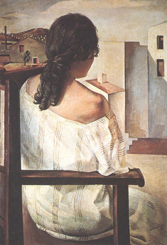 Seated Girl Seen From The Back By Salvador Dali Art Reproduction from Wanford