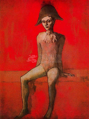Seated Harlequin By Pablo Picasso Art Reproduction from Wanford