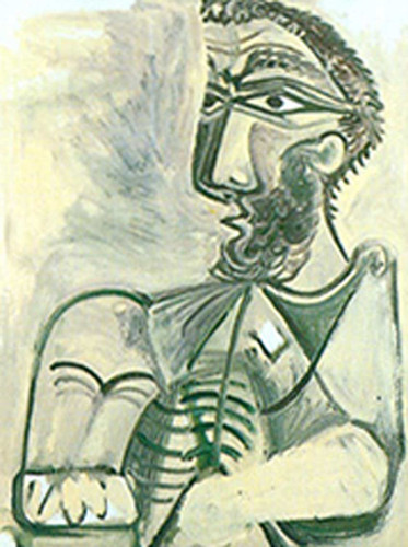 Seated Man By 3 By Pablo Picasso Art Reproduction from Wanford