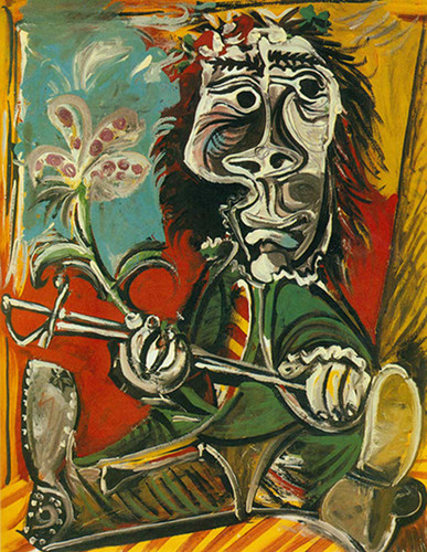 Seated Man With Sword And Flower By Pablo Picasso Art Reproduction from Wanford