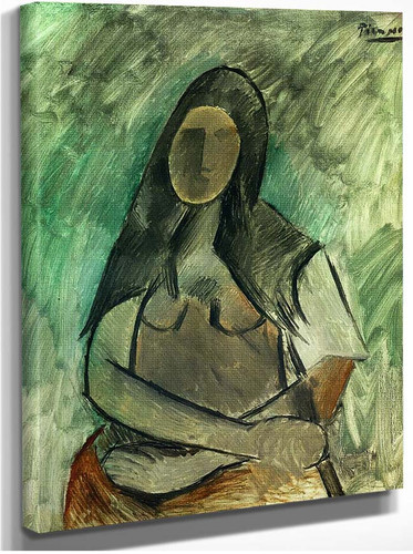 Seated Woman 1909 By Pablo Picasso