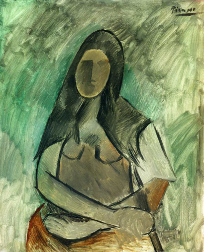 Seated Woman 1909 By Pablo Picasso Art Reproduction from Wanford
