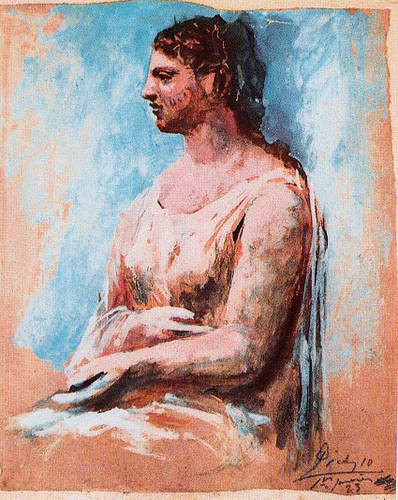 Seated Woman 1923 By Pablo Picasso Art Reproduction from Wanford