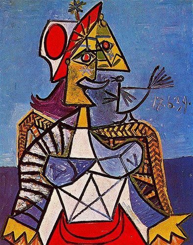 Seated Woman 1939 By Pablo Picasso Art Reproduction from Wanford