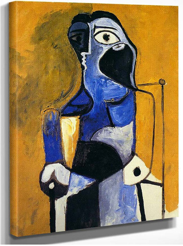 Seated Woman 1960 By Pablo Picasso