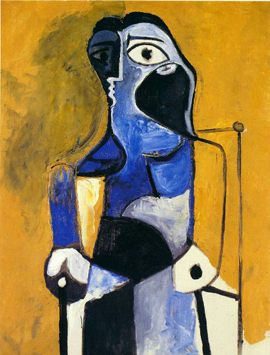 Seated Woman 1960 By Pablo Picasso Art Reproduction from Wanford