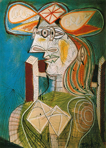 Seated Woman By Pablo Picasso Art Reproduction from Wanford