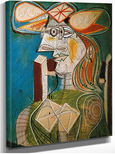Seated Woman By Pablo Picasso