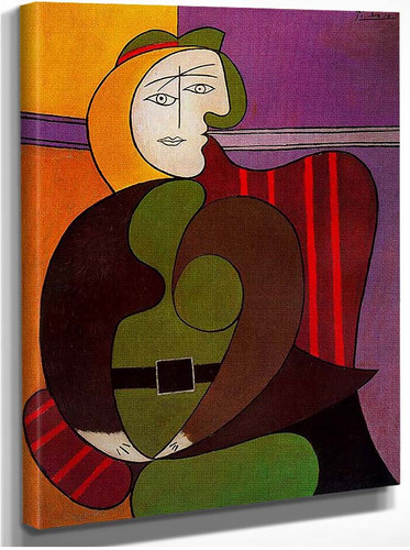 Seated Woman In A Red Armchair 1931 By Pablo Picasso