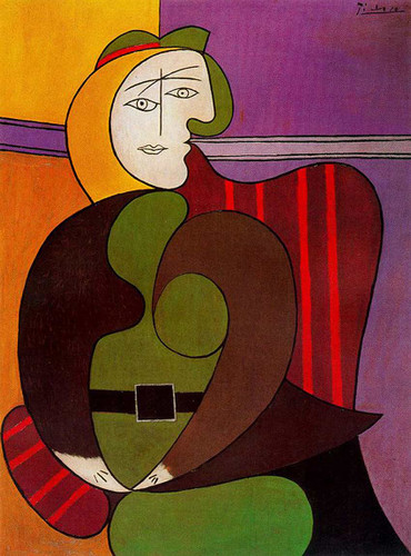 Seated Woman In A Red Armchair 1931 By Pablo Picasso Art Reproduction from Wanford