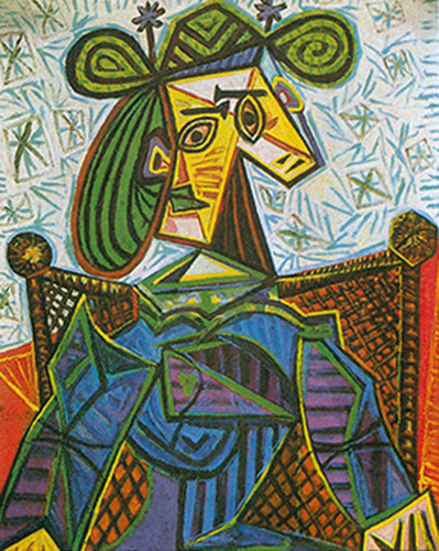 Seated Woman In An Armchair By By Pablo Picasso Art Reproduction from Wanford