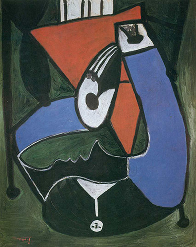 Seated Woman In An Armchair By Pablo Picasso Art Reproduction from Wanford