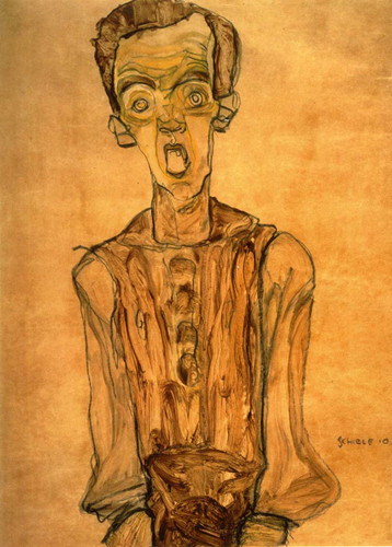 Self Portrait 1910 By Egon Schiele Art Reproduction from Wanford