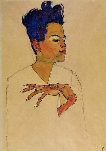 Self Portrait With Hands On Chest 1910 By Egon Schiele Art Reproduction from Wanford