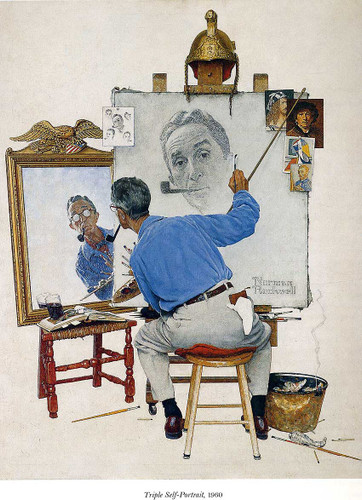 Self Portrait By Norman Rockwell Art Reproduction from Wanford