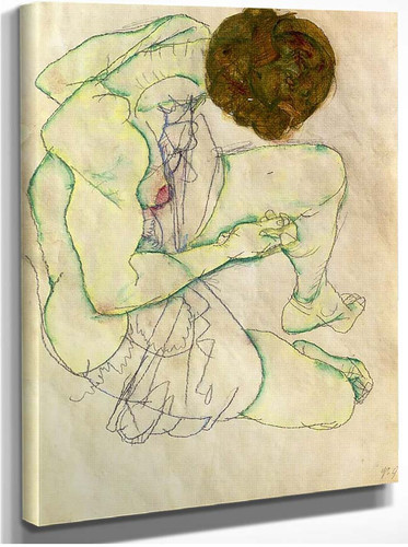 Sitting Woman 1914 By Egon Schiele