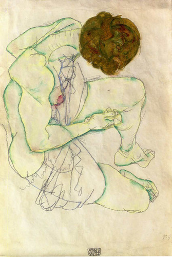 Sitting Woman 1914 By Egon Schiele Art Reproduction from Wanford