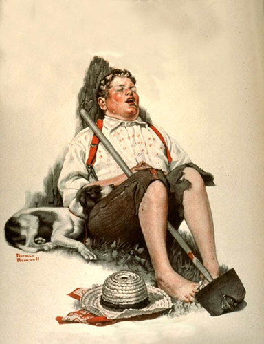 Sleeping Boy By Norman Rockwell Art Reproduction from Wanford