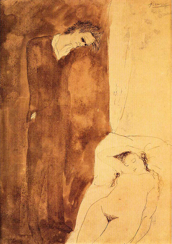 Sleeping Nude 1904 By Pablo Picasso Art Reproduction from Wanford