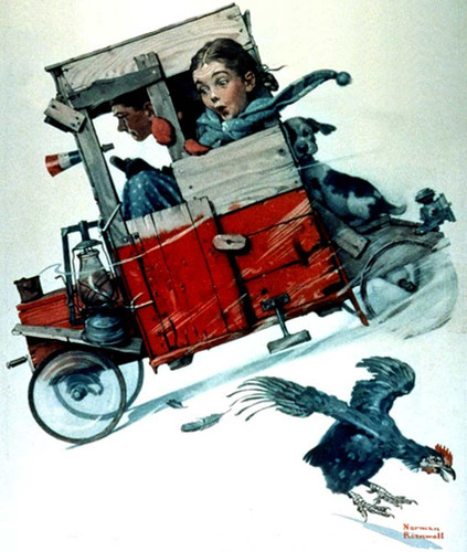 Soapbox Racer By Norman Rockwell Art Reproduction from Wanford