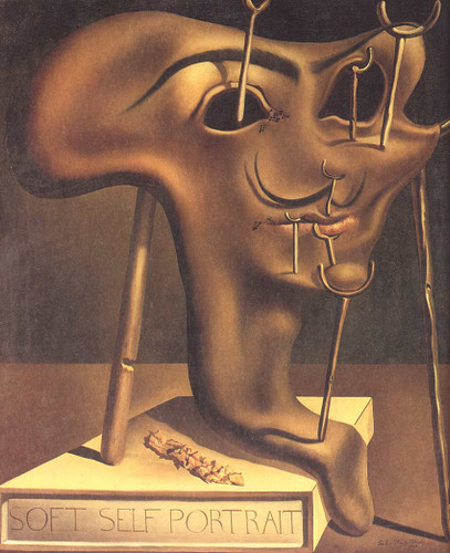 Soft Self Portrait With Fried Bacon By Salvador Dali Art Reproduction from Wanford