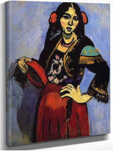 Spanish Woman With A Tamborine 1909 By Henri Matisse