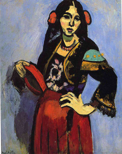 Spanish Woman With A Tamborine 1909 By Henri Matisse Art Reproduction from Wanford